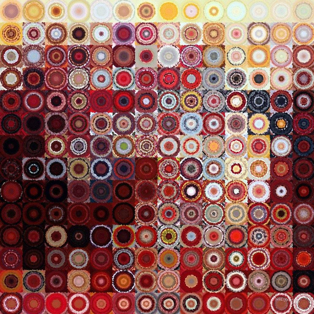 Limited Edition- Circles and Squares #11. Modern Fine Art