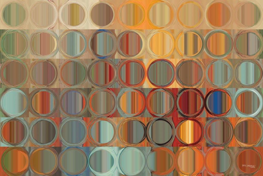Limited Edition- Circles and Squares #15. Modern Fine Art