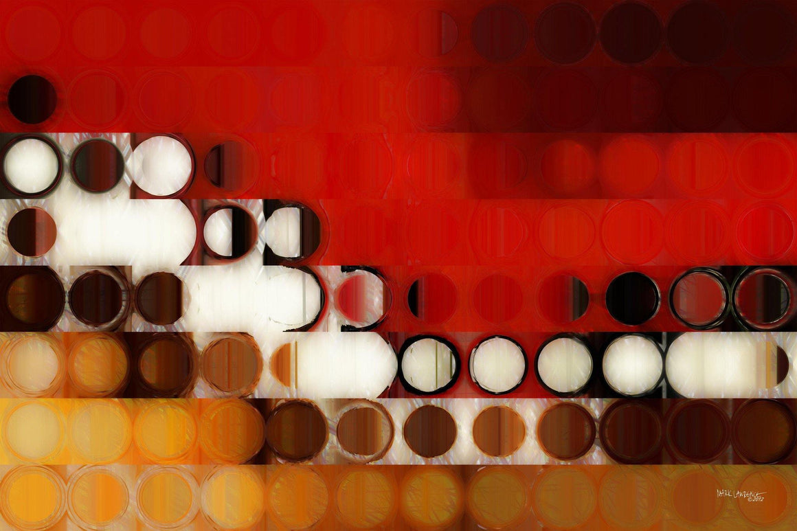 Limited Edition- Circles and Squares #17. Modern Fine Art