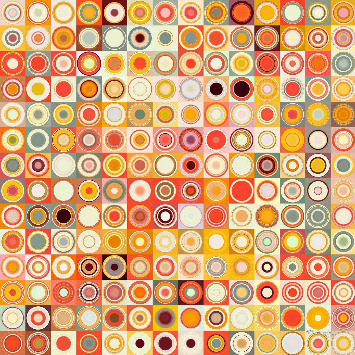 Circles and Squares #26. Modern Fine Art