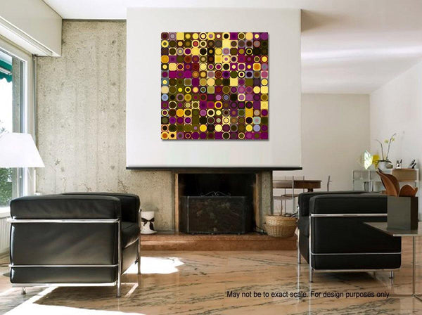 Interior Design Focal Art Inspiration-Circles & Squares #27. Exclusive Traditional Fine Art. Original limited edition signed canvas & paper giclees by internationally collected artist Mark Lawrence