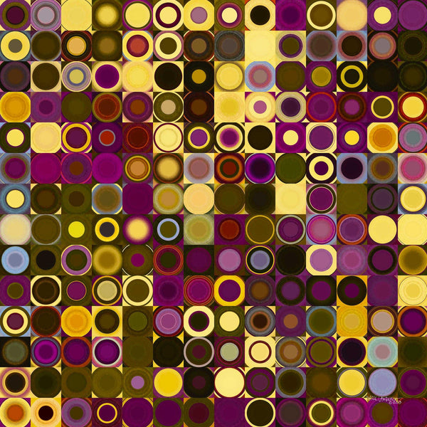 Elegant Modern Home Decor Art | Circles and Squares #27 | Limited Edition Modern Art