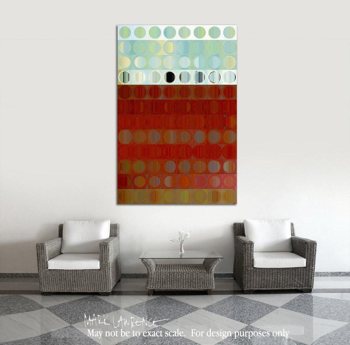 Interior Design Focal Art Inspiration-Circles & Squares 34. Exquisite Traditional Fine Art. Original limited edition signed canvas & paper giclees by internationally collected artist Mark Lawrence