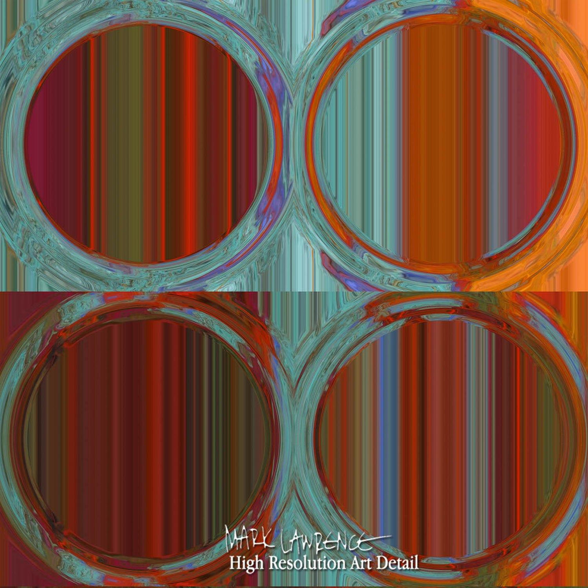 Large Painting Detail-Circles & Squares #35. Exclusive Traditional Fine Art. Original limited edition signed canvas & paper giclees by internationally collected artist Mark Lawrence