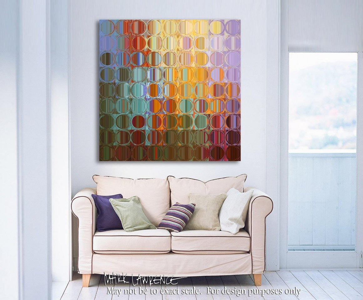 Interior Design Focal Art Inspiration-Circles & Squares #35. Exclusive Traditional Fine Art. Original limited edition signed canvas & paper giclees by internationally collected artist Mark Lawrence