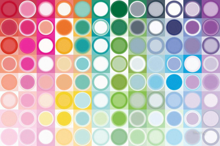 Circles and Squares 55. Rainbow Joy. Modern Abstract Fine Art. Exclusive original limited edition signed canvas & paper giclees by artist Mark Lawrence.