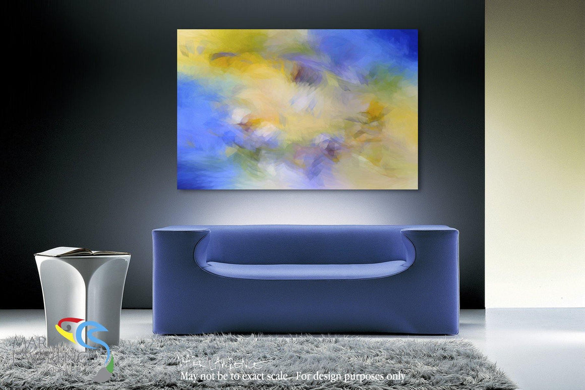 "Interior Design Focal Art Inspiration-Colossians 2:10. All Power Is His. Limited Edition Signed by Mark Lawrence. Inspiring, big 81""x54"" art on canvas. Ultra hand embellished with rich brush strokes..."