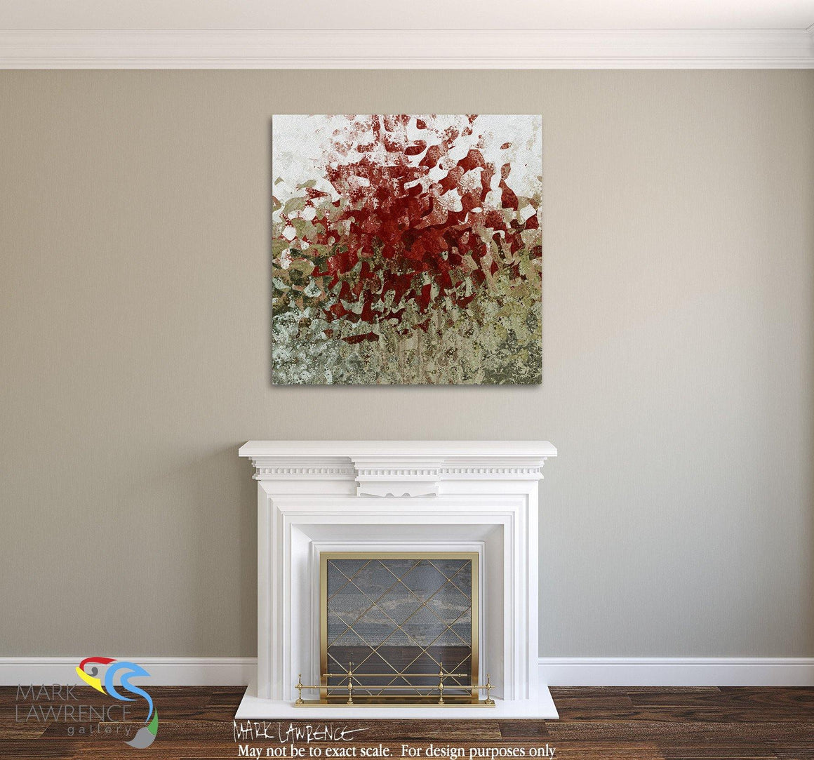 "Interior Design Focal Art Inspiration-Limited Edition Modern Christian Art Signed by Mark Lawrence. Inspiring, big 54""x54"" art on canvas. Ultra hand embellished with rich brush strokes by the artist"
