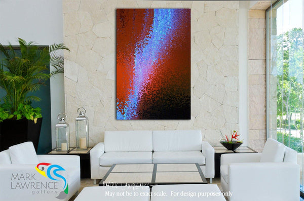 Interior Design Focal Art Inspiration-Christian Art- Colossians 3:2. Just Passing Through. Inspirational abstract art by Mark Lawrence. Original limited edition signed canvas & paper giclees