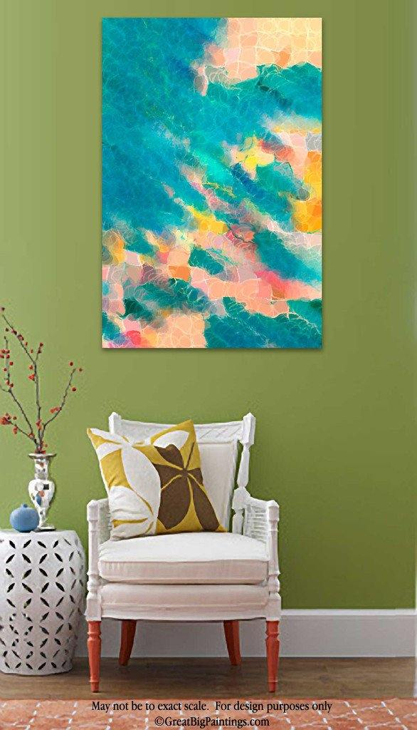 Room Art Inspiration- Beach Abstract Art | Coral Sea | Limited Edition Giclee