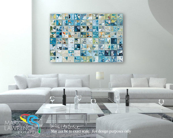 Designer Room Art Inspiration- Coral Blue Glass Tile Mosaic. Limited Edition Modern Art Giclee. Focal Point- Statement Art. Ultra hand embellished with bold heavily textured brush strokes.Romans 10:10. The Ultimate Confession. Limited Edition Christian themed art. Ultra hand embellished with brush strokes signed/numbered modern abstracts.
