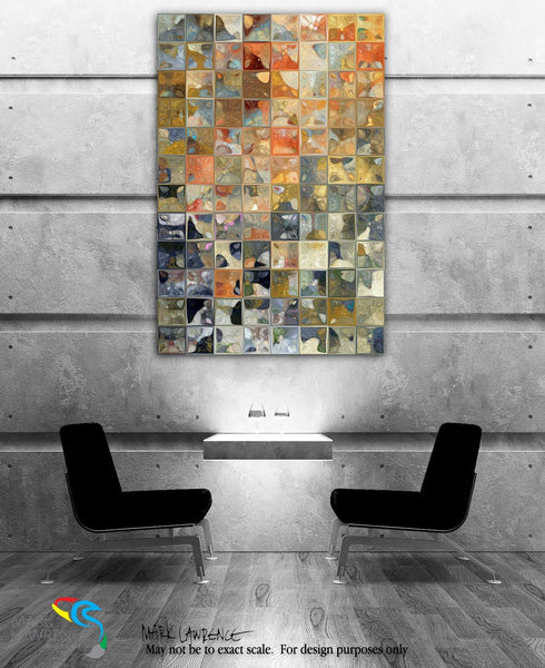 Designer Room Art Inspiration- Don't Dream It's Over. Modern Mosaic Tile Art.  Large Canvas Limited Edition Art. Ultra-hand embellished with brush strokes signed/numbered modern abstracts.