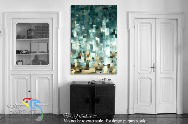 Interior Design Focal Art Inspiration-Ephesians 1:14. Our Inheritance In Christ. Limited Edition Christian themed art. Sacred hand embellished with brush strokes signed/numbered modern abstracts.