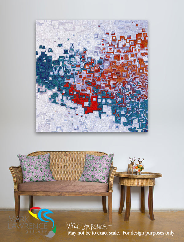 Interior Design Inspiration. Exodus 15:2. He Is My God. Christian themed limited edition art. Ultra-hand textured and embellished with brush strokes by the artist. The Lord is my strength and song, and he is become my salvation: he is my God, and I will prepare him an habitation; my father's God, and I will exalt him. Exodus 15:2