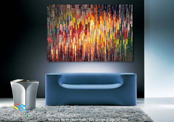 Interior Design Inspiration- Galatians 5:22. The Fruit Of The Spirit. Limited Edition Christian Modern Art. Ultra-hand embellished and textured with rich brush strokes by the artist. Signed & numbered brightly colored Christian abstract art. Find Art That Speaks To You! But the fruit of the Spirit is love, joy, peace, longsuffering, kindness, goodness, faithfulness, gentleness, self-control. Against such there is no law.  Galatians 5:22-23
