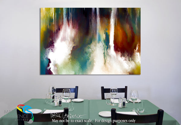 Interior Design Art Inspiration. Genesis 1:1. In The Beginning. Limited Edition Christian Modern Art. Ultra-hand embellished and textured with rich brush strokes by the artist. Signed & numbered brightly colored Christian abstract art. Find Art That Speaks To You! In the beginning God created the heaven and the earth. Genesis 1:1