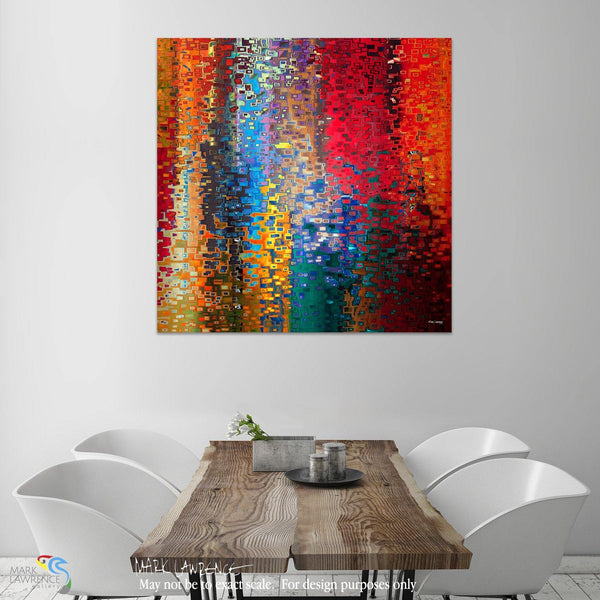 Interior Design Focal Point Art Inspiration- Christian Art-Christian Art- Genesis 12:8. Worship. Versevisions inspirational abstract art by Mark Lawrence. Artist Direct- Original limited edition signed canvases
