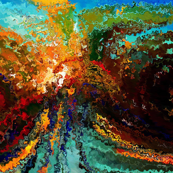 Christian art genesis 1 1 painting with light signed for Christian mural paintings