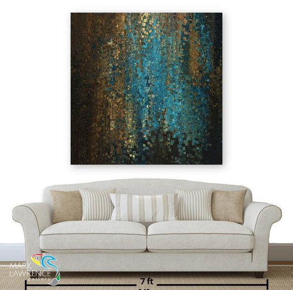 Living Room Inspiration- Hebrews 13:6. My Father Protects Me. Limited Edition Christian themed art. Richly hand embellished with brush strokes. Artist Signed/Numbered-Quantities Limited