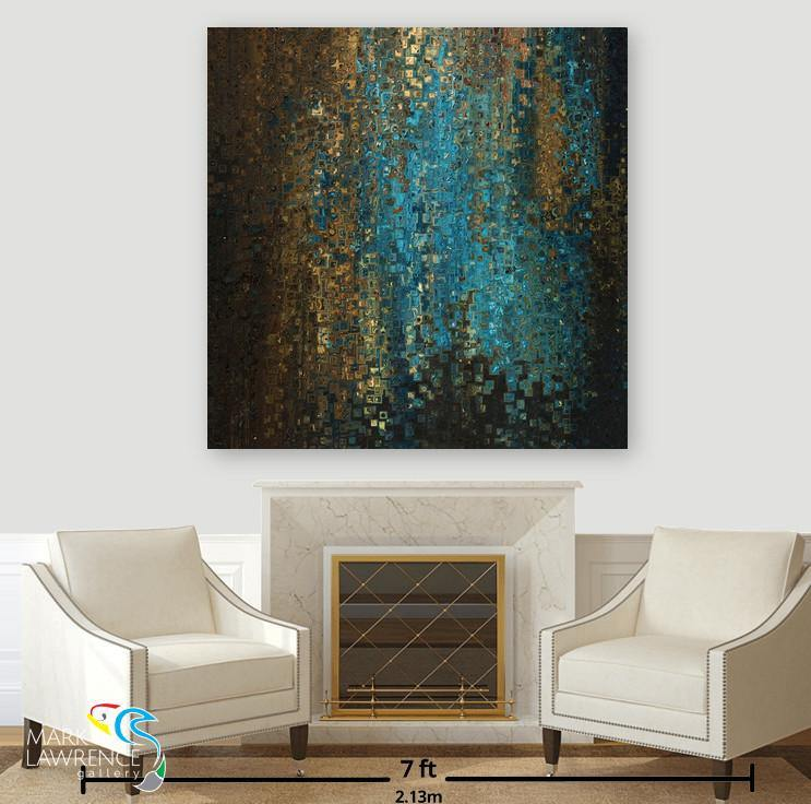 Sitting Room Art Inspiration- Hebrews 13:6. My Father Protects Me. Limited Edition Christian themed art. Richly hand embellished with brush strokes. Artist Signed/Numbered-Quantities Limited