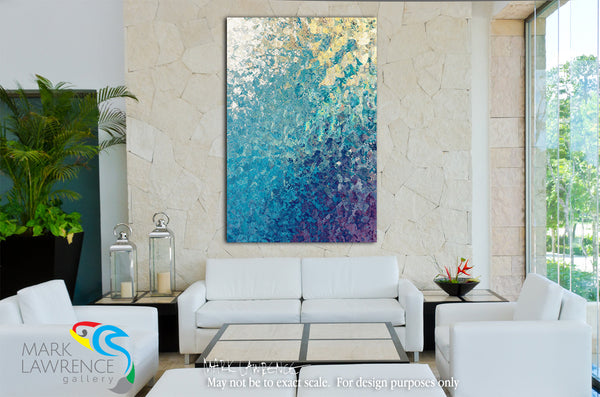 Interior Design Inspiration- Isaiah 12:2. My Strength And Song. Limited Edition Christian Modern Art. Ultra-hand embellished and textured by the artist. Signed and numbered  Christian abstract art. Behold, God is my salvation, I will trust and not be afraid; For the Lord God is my strength and song, and He has become my salvation. Isaiah 12:2