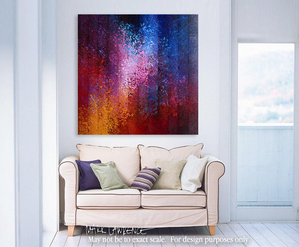 Interior Design Focal Point Art Inspiration- Christian Art-He Knows My Name. Versevisions inspirational abstract art by Mark Lawrence. Artist Direct- Original limited edition signed canvas & paper giclees