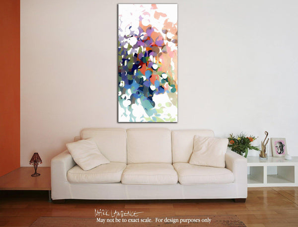 Interior Design Focal Point Art Inspiration- Christian Art-Isaiah 43:5. Versevisions contemporary abstract fine art by Mark Lawrence. Artist direct original limited edition signed canvas & paper giclees
