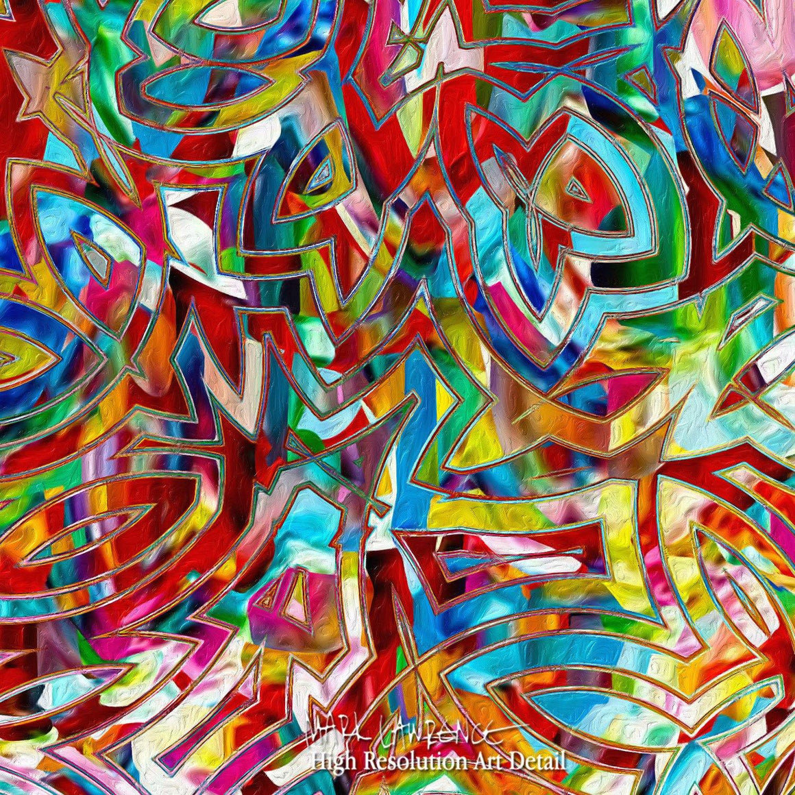 Large Painting Detail- Christian Art-Isaiah 55:7. Versevisions contemporary abstract fine art by Mark Lawrence. Artist direct original limited edition signed canvas & paper giclees