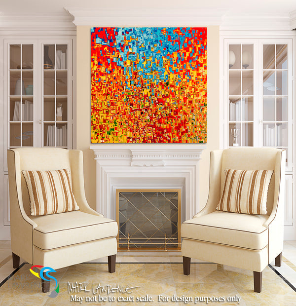 "Interior Design Inspiration- Jesus Christ The I AM. John 8:58. Limited Edition. Hand embellished. Signed & numbered colorful modern abstract Christian art. Jesus said to them, ""Most assuredly, I say to you, before Abraham was, I AM."" John 8:58"