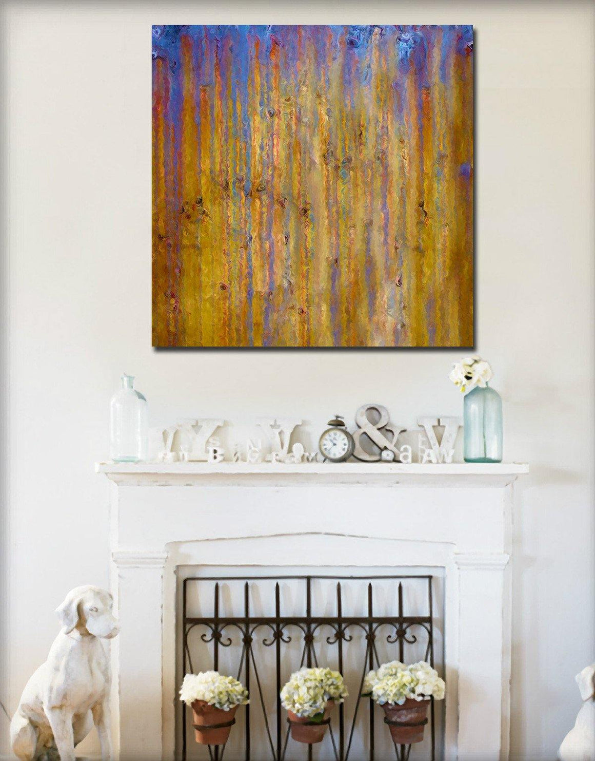 Interior Design Focal Point Art Inspiration- Christian Art-John 11:35. Versevisions contemporary abstract fine art by Mark Lawrence. Artist direct original limited edition signed canvas & paper giclees