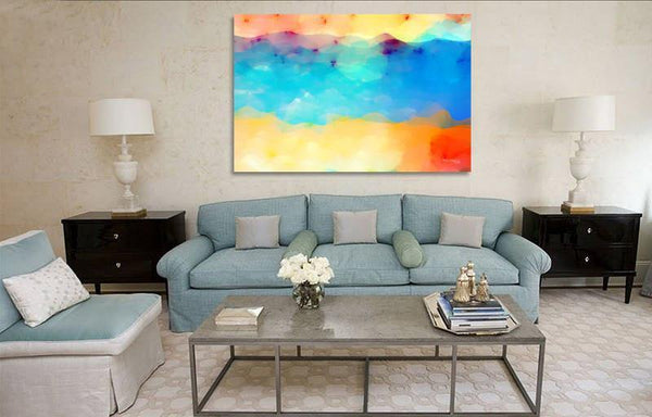 Sample Room Display- Peace I Leave With You. John 14:27. Modern Christian painting. MarkLawrenceGallery.com