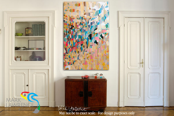 Interior Design Inspiration- John 1:12 Receive Him. Limited Edition Christian Modern Art. Ultra-hand embellished and textured with rich brush strokes by the artist. Signed and numbered brightly colored Christian abstract art. Find Art That Speaks To You! But as many as received Him, to them He gave the right to become children of God, to those who believe in His name. John 1:12