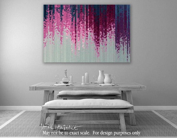 Interior Design Focal Point Art Inspiration- Christian Art- Jesus Loves You. Versevisions inspirational abstract art by Mark Lawrence. Artist Direct- Original limited edition signed canvas & paper giclees