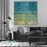 "Interior Design Inspiration. Lamentations 3:24. I Hope In Him. Limited Edition Christian Modern Art. Ultra-hand embellished and textured with rich brush strokes by the artist. Signed & numbered brightly colored Christian abstract art. Find Art That Speaks To You! The Lord is my portion,"" says my soul, ""Therefore I hope in Him!"" Lamentations 3:24"
