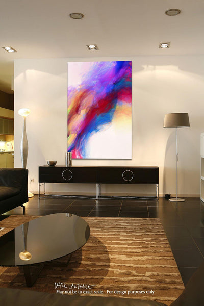 Interior Design Focal Point Art Inspiration- Christian Art-Luke 12:34. Versevisions spiritual abstract fine art by Mark Lawrence. Artist direct original limited edition signed canvas & paper giclees
