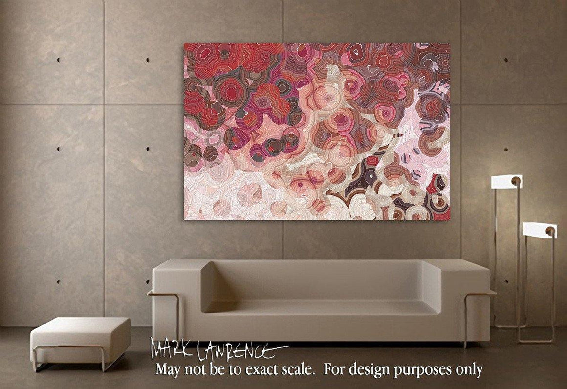 Interior Design Focal Point Art Inspiration- Christian Art-Luke 1:1. Versevisions spiritual contemporary abstract art by Mark Lawrence. Artist direct original limited edition signed canvas & paper giclees