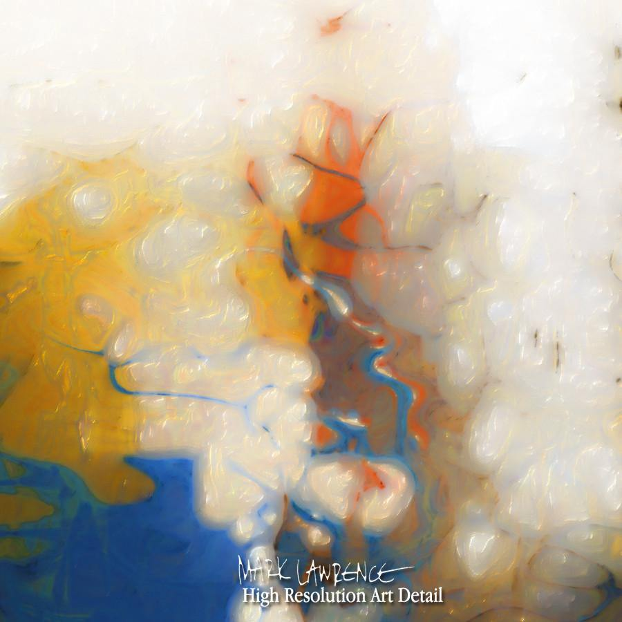 Painting Detail- Change The Road You're On. Mark 9:34 | Modern Christian Abstract Art