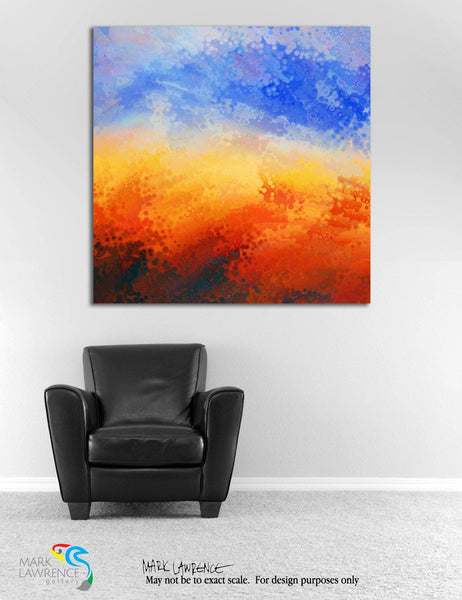 Interior Design Focal Point Art Inspiration- Mark 9:37. Welcome The Children. Limited Edition Modern Christian Art Signed by Mark Lawrence. Ultra hand embellished with rich brush strokes by the artist