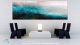 Interior Design Inspiration- Matthew 8:24. Asleep. Limited Edition Christian Modern Art Panoramic. Ultra-hand embellished and textured with rich brush strokes by the artist. Signed & numbered brightly colored Christian abstract art. Find Art That Speaks To You! And suddenly a great tempest arose on the sea, so that the boat was covered with the waves. But He was asleep. Matthew 8:24
