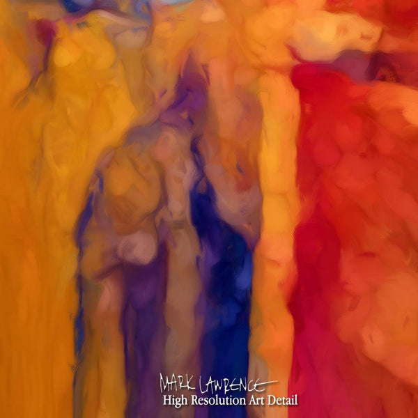 Large Painting Detail- Christian Art-Matthew 18:10. Versevisions inspirational abstract art by Mark Lawrence. Artist Direct- Original limited edition signed canvas & paper giclees