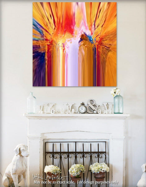 Interior Design Focal Point Art Inspiration- Christian Art-Matthew 18:10. Versevisions inspirational abstract art by Mark Lawrence. Artist Direct- Original limited edition signed canvas & paper giclees