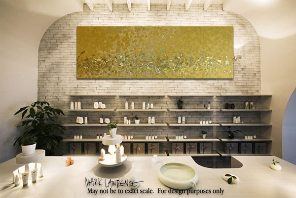 "Interior Design Focal Point Art Inspiration- Huge Limited Edition Panoramic Christian Art by Mark Lawrence. Giant 50""x150"" focal point art on canvas, richly hand embellished with textured brush strokes."