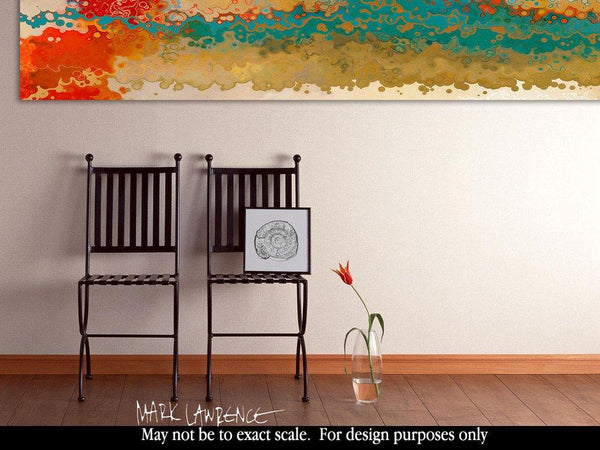 Abstract Panoramic Art | Matthew 7:13. Less Traveled | Limited Edition Giclee