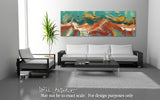 Interior Design Panoramic Art- Philippians 4:4. Rejoice!  Limited Edition Christian Modern Art Panoramic. Ultra-hand embellished and textured with rich brush strokes by the artist. Signed & numbered brightly colored Christian abstract art. Find Art That Speaks To You! Rejoice in the Lord always: and again I say, Rejoice. Philippians 4:4