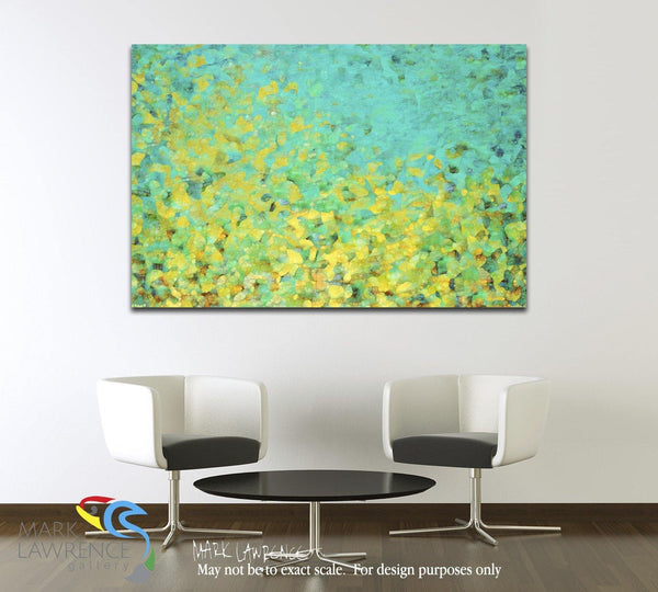 "Interior Design Focal Point Art Inspiration- Limited Edition Modern Christian Art Signed by Mark Lawrence. Inspiring, big 81""x54"" art on canvas. Ultra hand embellished with rich brush strokes by the artist"