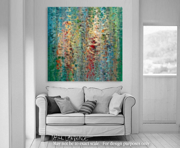 Interior Design Focal Point Art Inspiration- Psalm 34:10b. Any Good Thing. VerseVisions Modern Christian Art. Copyright 2009 by Mark Lawrence. All Rights Reserved.