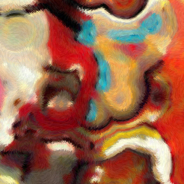 Large Painting Detail- Psalm 34:17. Cry Out. VerseVisions Modern Christian Art Collection. Healing Scriptures Art. Copyright 2009 by Mark Lawrence.