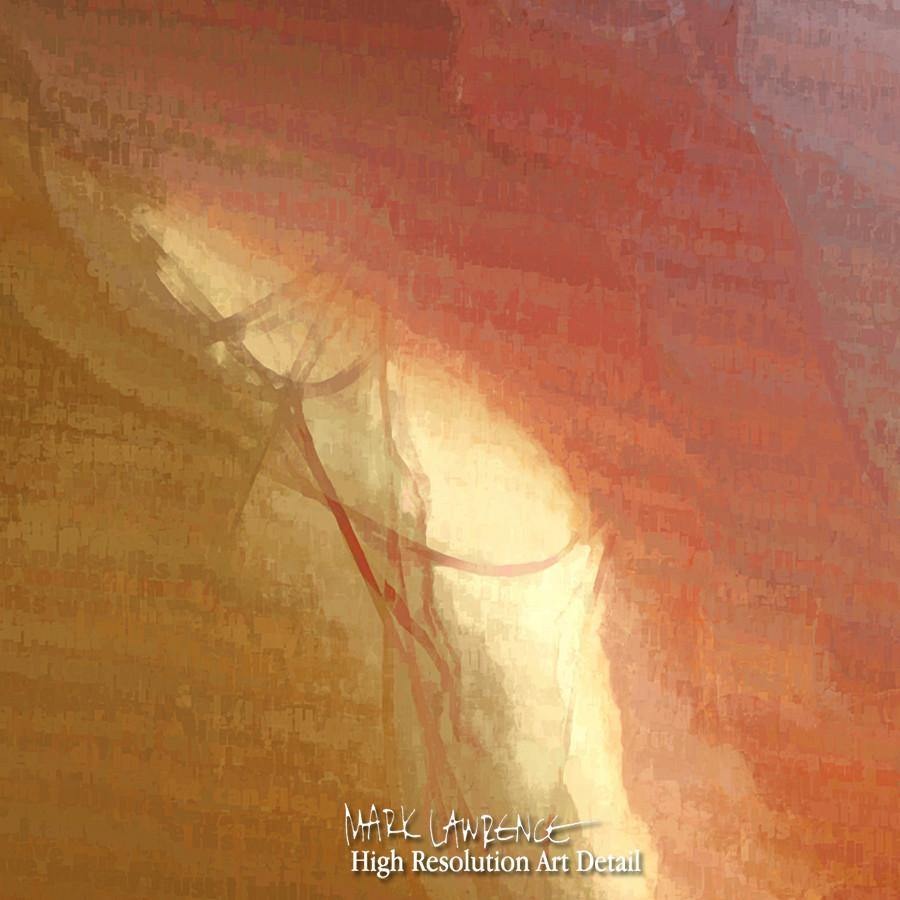 Large Painting Detail-  Psalm 56:4. I Will Not Fear. Painting With Light Modern Christian Art. Copyright 2009 by Mark Lawrence. All Rights Reserved.