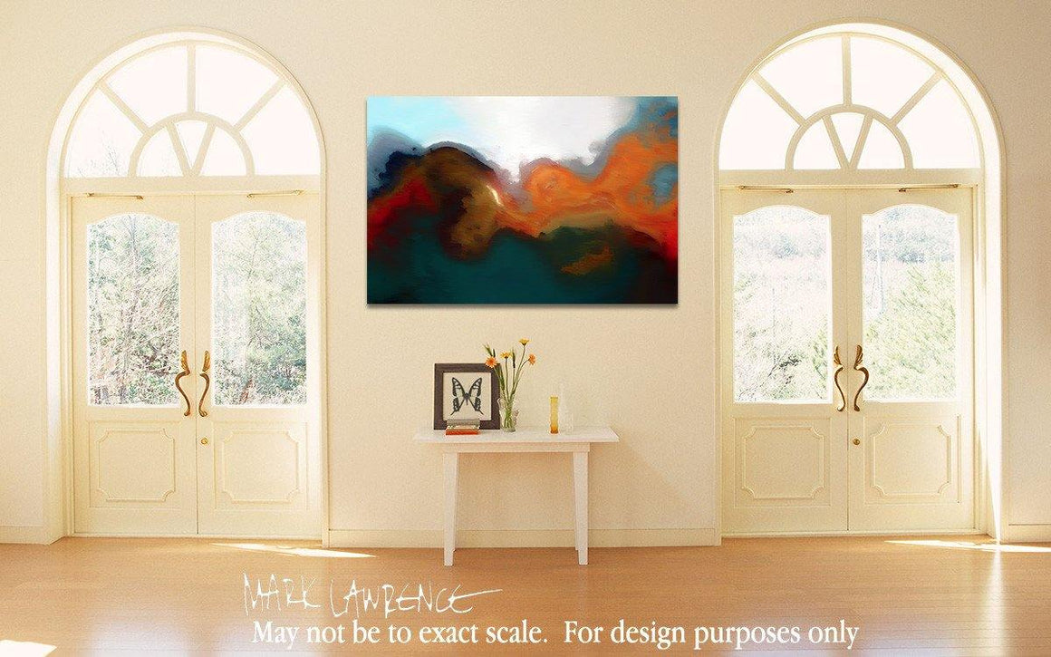 Big Art Design Inspiration-  Psalm 56:4. I Will Not Fear. Painting With Light Modern Christian Art. Copyright 2009 by Mark Lawrence. All Rights Reserved.