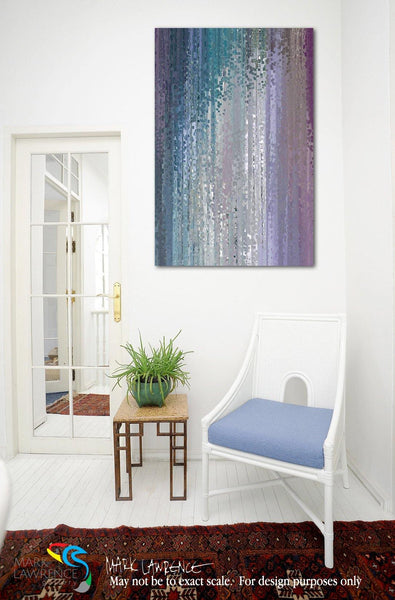 Interior Design Room Inspiration- Psalm 62:1. Waiting Upon The Lord. Limited Edition Christian themed art. Large richly hand embellished with textured brush strokes. Signed/numbered abstract art
